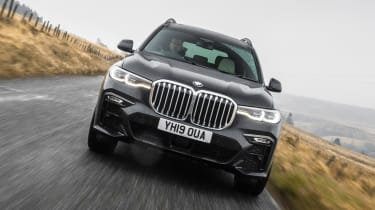 BMW X7 SUV front tracking