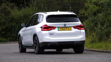 BMW iX3 SUV rear cornering
