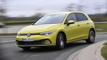 2020 Volkswagen Golf - front 3/4 dynamic cornering view