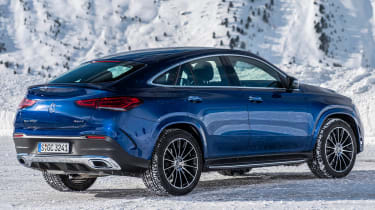 Mercedes GLE Coupe SUV rear 3/4 static