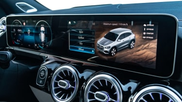 Mercedes GLA SUV MBUX widescreen