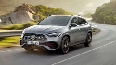 Mercedes GLA driving