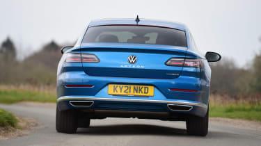 Volkswagen Arteon driving - rear view