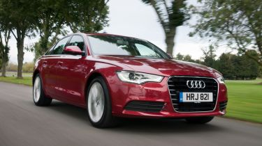 Audi A6 saloon 2013 front quarter tracking
