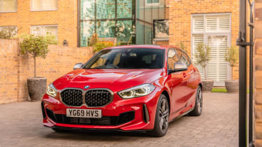 BMW M135i xDrive - static front 3/4 view