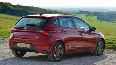 Hyundai i10 hatchback rear 3/4 static