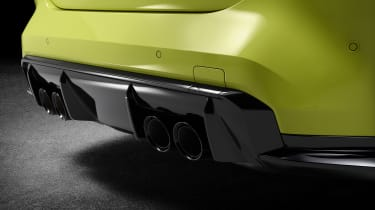 2021 BMW M4 Competition Coupe -  quad exhaust and rear diffuser