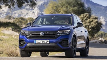 Volkswagen Touareg R driving past camera