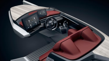 The Beneteau Sea Drive Concept has an dashboard familar to any Peugeot owners.