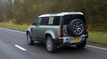 Land Rover Defender SUV rear 3/4 tracking