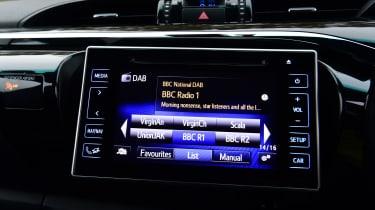 Toyota Hilux pickup infotainment DAB radio