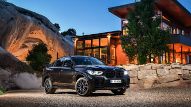 BMW X6 M Competition at dusk