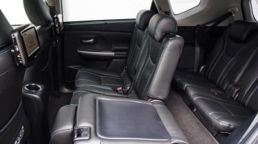 Toyota Prius+ MPV rear seats folded