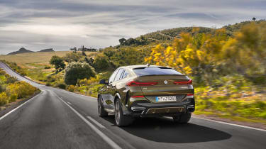 2019 BMW X6 - rear dynamic shot wide