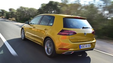VW Golf rear driving