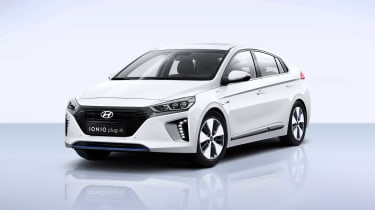 The Hyundai Ioniq plug-in hybrid will emit just 34g/km of CO2 and goes head to head with the Toyota Prius