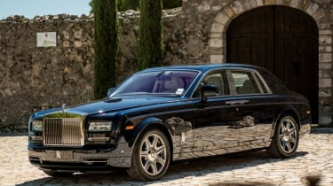 There's no struggling to recognise the Rolls Royce Phantom...