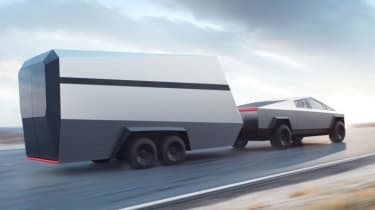Tesla Cybertruck - trailer towing dynamic view