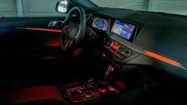 BMW M135i interior at night