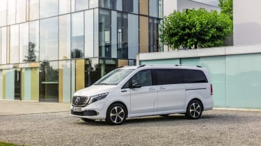 Mercedes EQV - front side on static