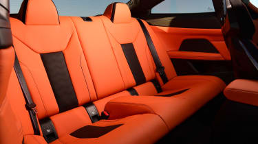 BMW M4 Coupe rear seats