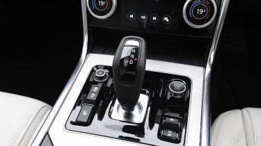 Jaguar XE saloon gearshifter