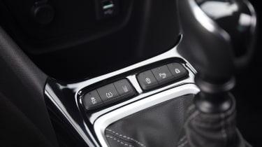 2021 Vauxhall Crossland SUV - centre console controls