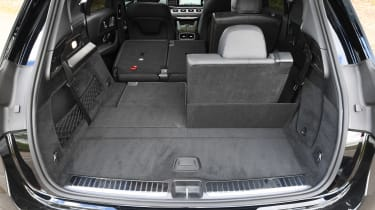 Mercedes GLE SUV boot seats up