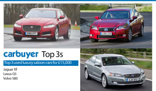 Top 3 used luxury saloon cars for £15,000