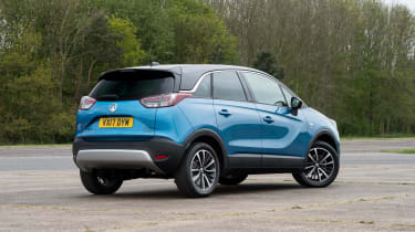 The Crossland X SUV is a replacement for the Meriva MPV; despite being billed as an SUV, it's front-wheel drive only though
