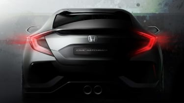 'Teaser' sketches gave strong hints to the appearance of the production version of the new Honda Civic
