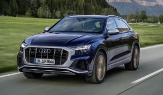 Audi SQ8 driving