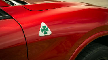 Alfa Romeo Stelvio Quadrifoglio SUV - front wing badging