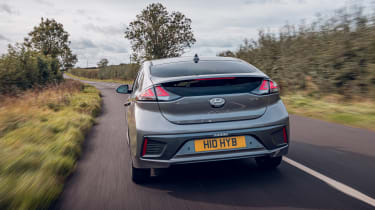 Hyundai Ioniq Hybrid review rear tracking
