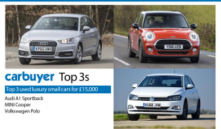Top 3 used luxury small cars - Audi A1 Sportback, MINI Cooper, Volkswagen Polo