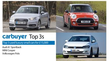 Top 3 used luxury small cars - Audi A1 Sportback, MINI Cooper, Volkswagen Polo