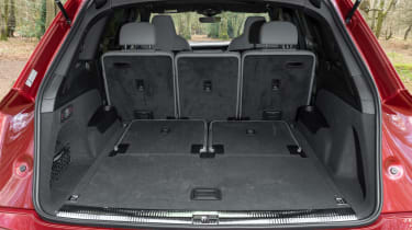 Audi SQ7 SUV boot with five seats