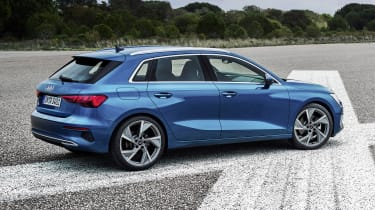 2020 Audi A3 Sportback - side on view static