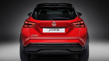 New Nissan Juke in red - rear end