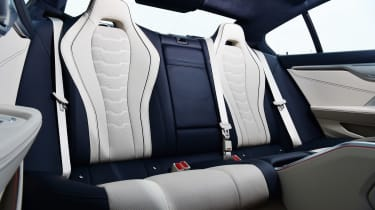 BMW 8 Series Gran Coupe saloon rear seats