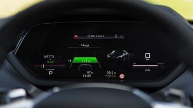 Audi e-tron GT saloon battery display