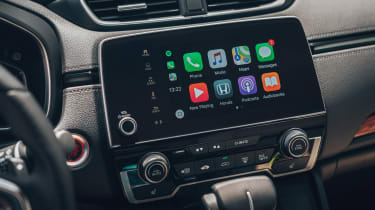 The infotainment screen is more neatly integrated and supports Apple CarPlay and Android Auto