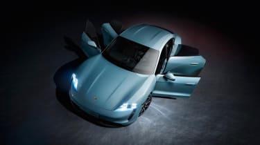2020 Porsche Taycan 4S - all four doors open