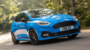 Ford Fiesta ST hatchback front 3/4 driving