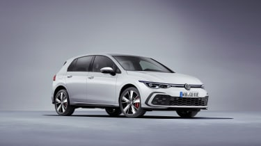 2020 Volkswagen Golf GTE - front 3/4 view