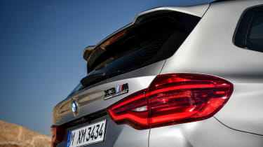 BMW X3 M Competition SUV rear spoiler