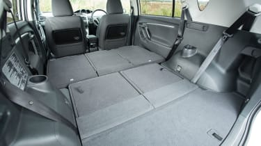 With all seats folded flat there's a lot of room in a Verso for bulky loads