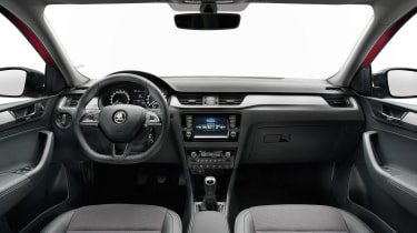 The facelifted model has an updated instrument cluster and infotainment system with Apple CarPlay and Android Auto