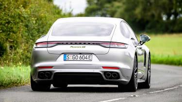 Porsche Panamera hatchback rear cornering