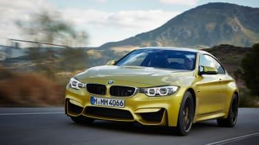 BMW M4 coupe 2014 front tracking